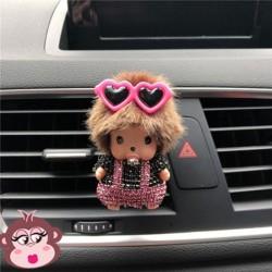 Désodorisant voiture Oh My Monkey lunettes dans les cheveux