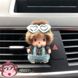 Désodorisant voiture Oh My Monkey lunettes dans les cheveux bleu