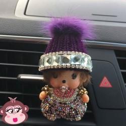 Désodorisant voiture Oh My Monkey bonnet violet