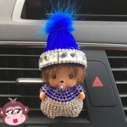 Désodorisant voiture Oh My Monkey bonnet bleu