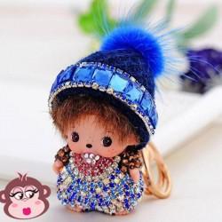 Bijou de sac Oh My Monkey avec Bonnet bleu