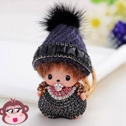 Bijou de sac Oh My Monkey avec Bonnet noir