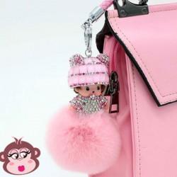 Bijou de sac Oh My Monkey rose