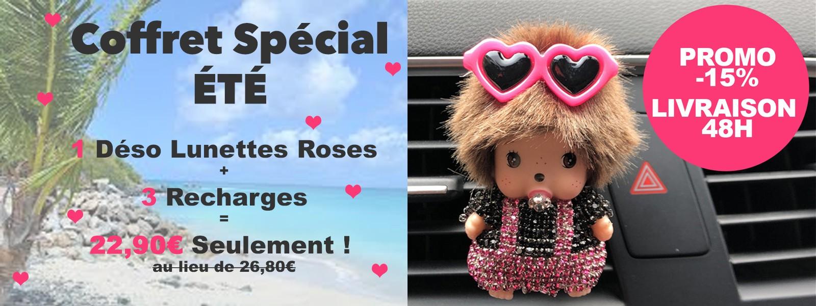 1 Déso Lunettes Roses + 3 Recharges = 22,90€ Seulement !
